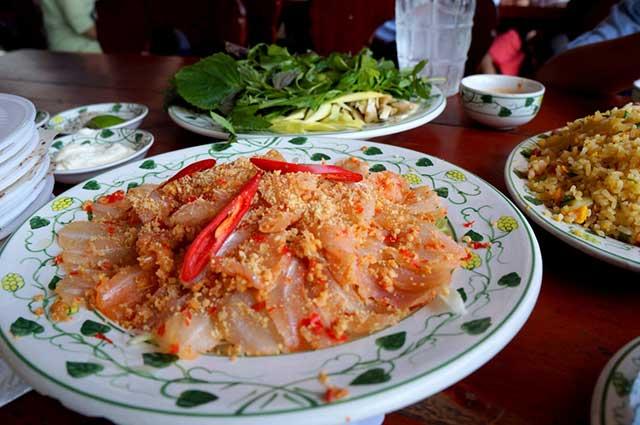 Gỏi cá mai ngon ở Vũng Tàu