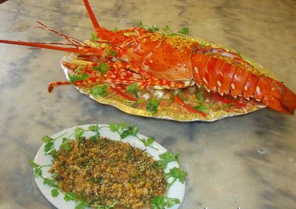 Tiết canh tôm hùm - món 1 ăn sang trọng tại Vũng Tàu